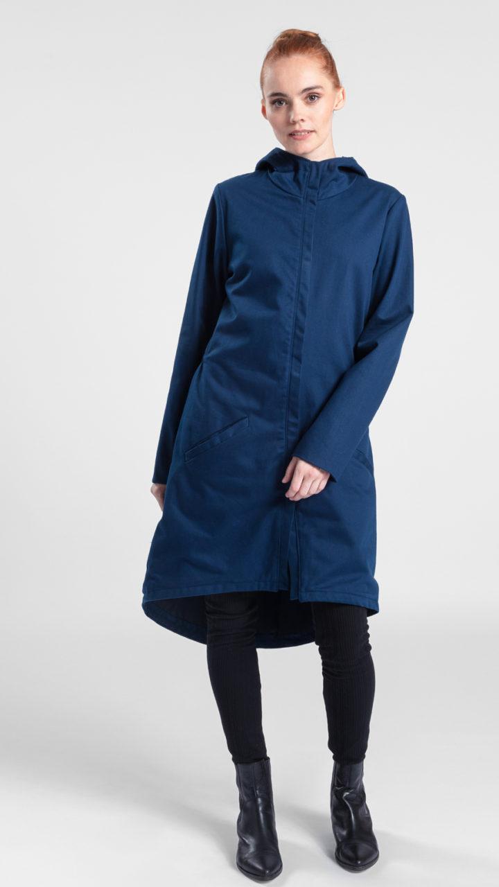 wasserabweisend Mantel aus Bio Baumwolle