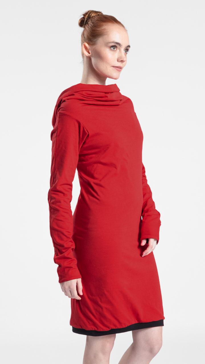 rotes Kleid aus Bio Baumwolle