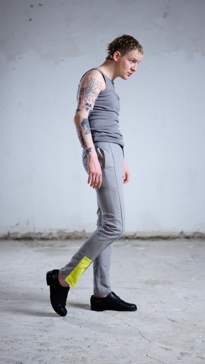 straightleg, pants, trousers, unisex, perfectfit, sustainablefashion, grey, sackundasche, urbanstyle