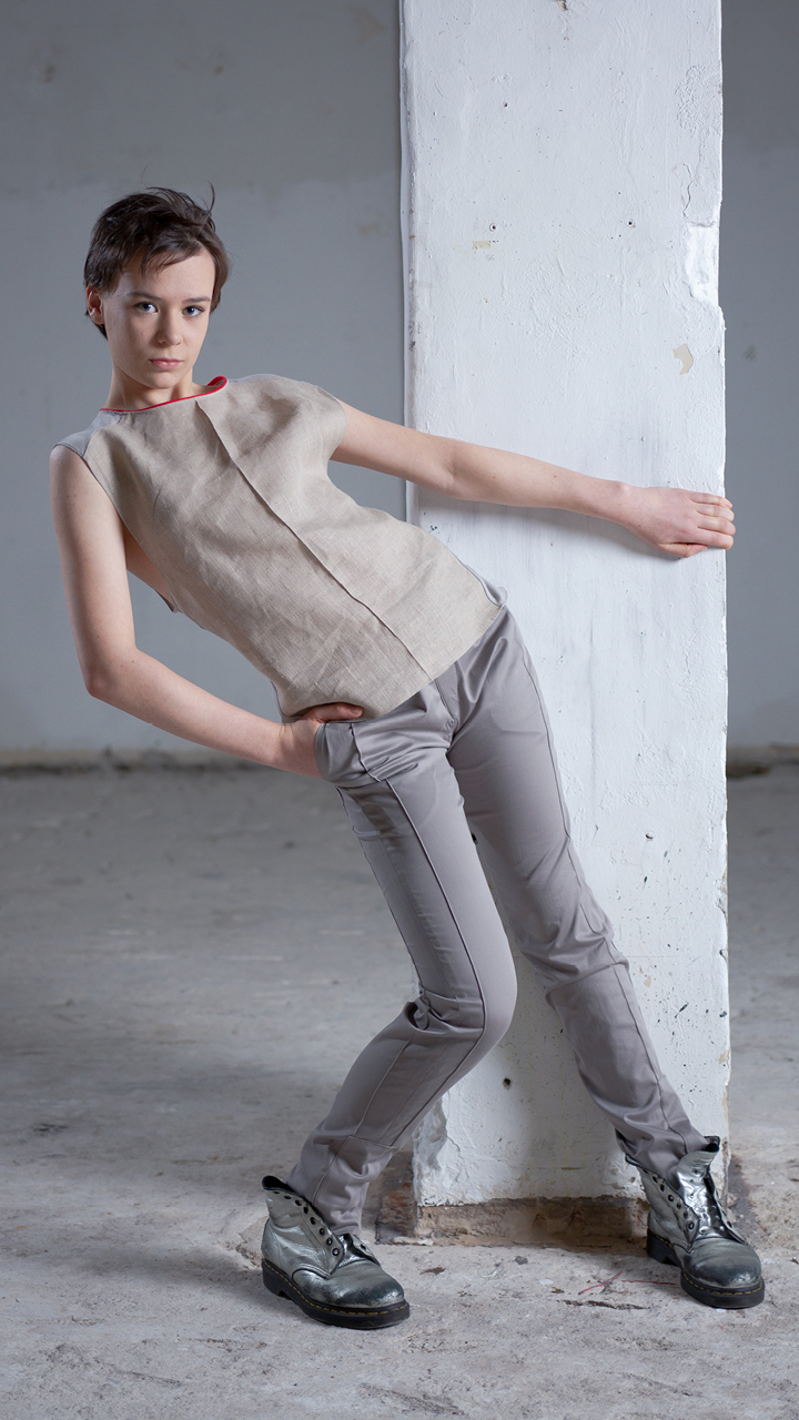 linen, shirt, authentic, avantgarde, fashion, sand-grey, frontcrease, sustainable, fair, local